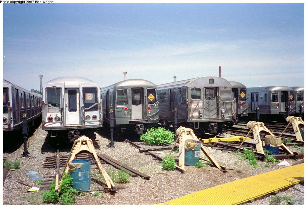 (181k, 1044x706)<br><b>Country:</b> United States<br><b>City:</b> New York<br><b>System:</b> New York City Transit<br><b>Location:</b> Coney Island Yard<br><b>Photo by:</b> Bob Wright<br><b>Date:</b> 5/30/1993<br><b>Viewed (this week/total):</b> 0 / 1197
