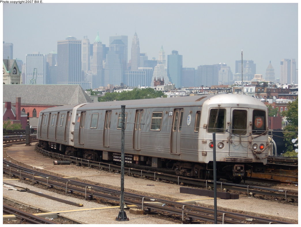 (204k, 1044x788)<br><b>Country:</b> United States<br><b>City:</b> New York<br><b>System:</b> New York City Transit<br><b>Line:</b> IND Crosstown Line<br><b>Location:</b> Smith/9th Street <br><b>Route:</b> F<br><b>Car:</b> R-46 (Pullman-Standard, 1974-75) 5710 <br><b>Photo by:</b> Bill E.<br><b>Date:</b> 7/28/2007<br><b>Viewed (this week/total):</b> 0 / 1671