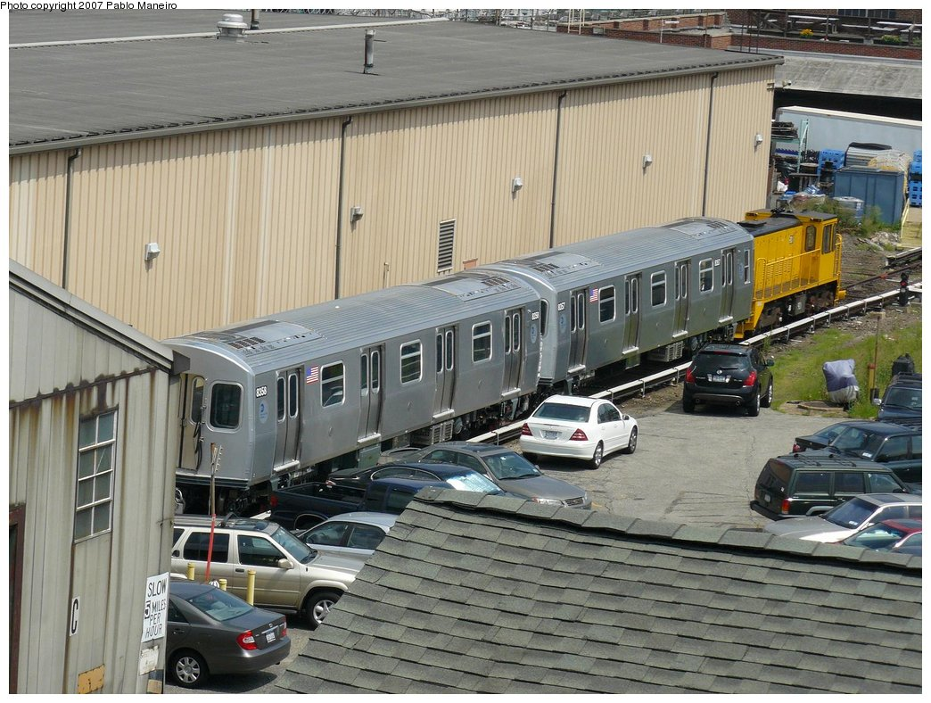 (216k, 1044x788)<br><b>Country:</b> United States<br><b>City:</b> New York<br><b>System:</b> New York City Transit<br><b>Location:</b> 207th Street Yard<br><b>Car:</b> R-160A-1 (Alstom, 2005-2008, 4 car sets)  8358 <br><b>Photo by:</b> Pablo Maneiro<br><b>Date:</b> 7/27/2007<br><b>Viewed (this week/total):</b> 2 / 1554