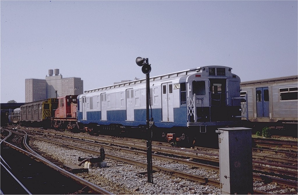 (202k, 1024x671)<br><b>Country:</b> United States<br><b>City:</b> New York<br><b>System:</b> New York City Transit<br><b>Location:</b> Coney Island Yard<br><b>Car:</b> R-6-3 (American Car & Foundry, 1935)  R248 (ex-925)<br><b>Photo by:</b> Steve Zabel<br><b>Collection of:</b> Joe Testagrose<br><b>Date:</b> 5/25/1971<br><b>Viewed (this week/total):</b> 0 / 1281