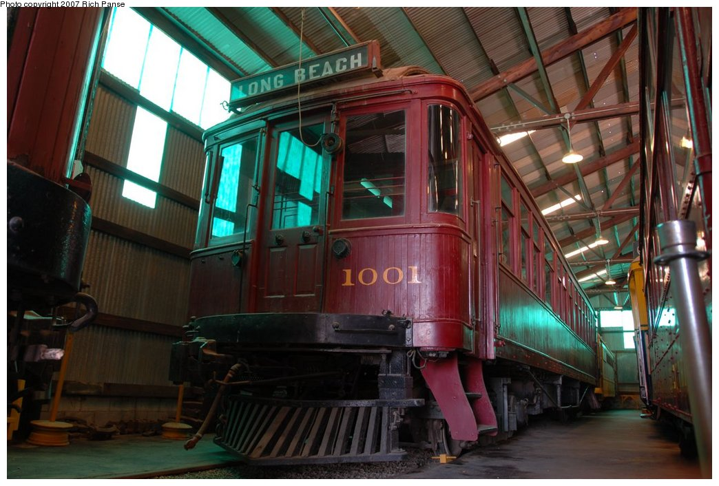 (179k, 1044x706)<br><b>Country:</b> United States<br><b>City:</b> Perris, CA<br><b>System:</b> Orange Empire Railway Museum <br><b>Car:</b>  1001 <br><b>Photo by:</b> Richard Panse<br><b>Date:</b> 6/23/2007<br><b>Viewed (this week/total):</b> 0 / 588