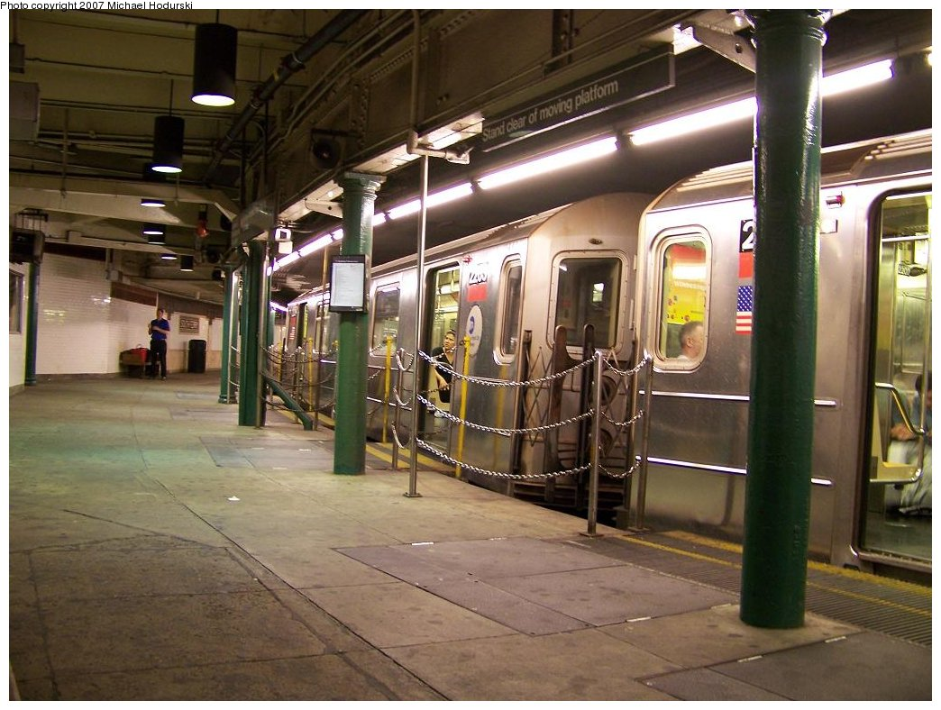 (188k, 1044x788)<br><b>Country:</b> United States<br><b>City:</b> New York<br><b>System:</b> New York City Transit<br><b>Line:</b> IRT West Side Line<br><b>Location:</b> South Ferry (Outer Loop Station) <br><b>Route:</b> 1<br><b>Car:</b> R-62A (Bombardier, 1984-1987)  2263 <br><b>Photo by:</b> Michael Hodurski<br><b>Date:</b> 7/27/2007<br><b>Viewed (this week/total):</b> 3 / 2326