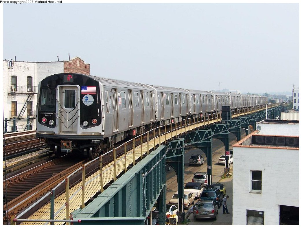 (205k, 1044x788)<br><b>Country:</b> United States<br><b>City:</b> New York<br><b>System:</b> New York City Transit<br><b>Line:</b> BMT West End Line<br><b>Location:</b> 18th Avenue <br><b>Route:</b> N<br><b>Car:</b> R-160B (Kawasaki, 2005-2008)  8788 <br><b>Photo by:</b> Michael Hodurski<br><b>Date:</b> 8/4/2007<br><b>Viewed (this week/total):</b> 7 / 1662