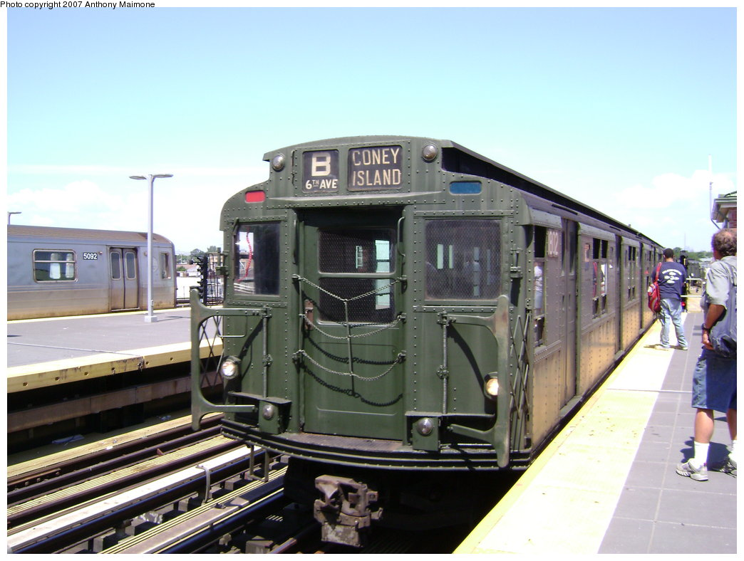 (177k, 1044x788)<br><b>Country:</b> United States<br><b>City:</b> New York<br><b>System:</b> New York City Transit<br><b>Location:</b> Coney Island/Stillwell Avenue<br><b>Route:</b> Fan Trip<br><b>Car:</b> R-9 (Pressed Steel, 1940)  1802 <br><b>Photo by:</b> Anthony Maimone<br><b>Date:</b> 8/12/2007<br><b>Viewed (this week/total):</b> 4 / 1321