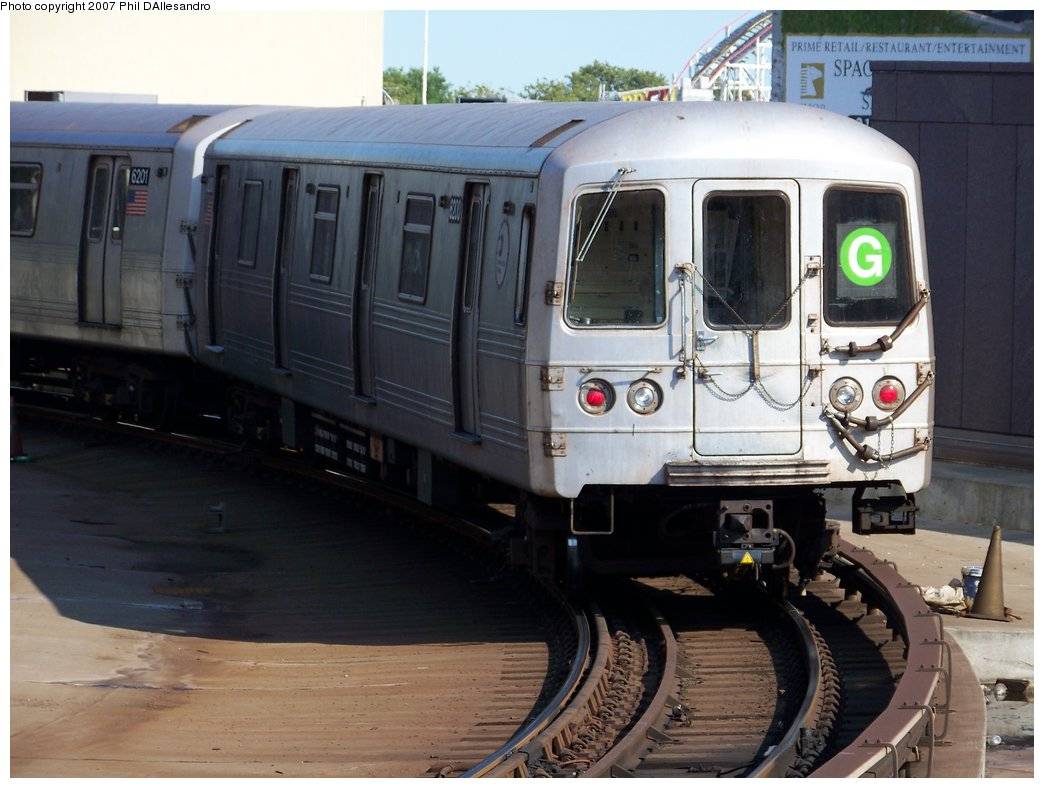 (158k, 1044x788)<br><b>Country:</b> United States<br><b>City:</b> New York<br><b>System:</b> New York City Transit<br><b>Location:</b> Coney Island/Stillwell Avenue<br><b>Route:</b> G<br><b>Car:</b> R-46 (Pullman-Standard, 1974-75) 6200 <br><b>Photo by:</b> Philip D'Allesandro<br><b>Date:</b> 8/11/2007<br><b>Viewed (this week/total):</b> 0 / 1825