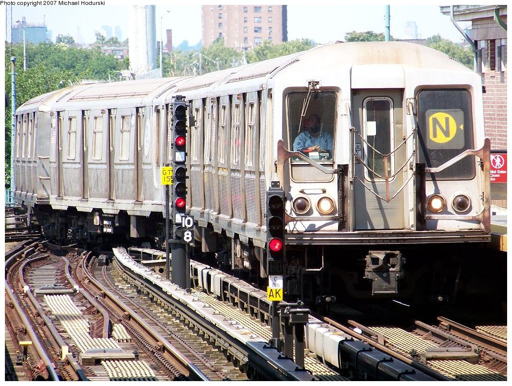(280k, 1044x788)<br><b>Country:</b> United States<br><b>City:</b> New York<br><b>System:</b> New York City Transit<br><b>Location:</b> Coney Island/Stillwell Avenue<br><b>Route:</b> N<br><b>Car:</b> R-40 (St. Louis, 1968)  4394 <br><b>Photo by:</b> Michael Hodurski<br><b>Date:</b> 8/12/2007<br><b>Viewed (this week/total):</b> 1 / 1735