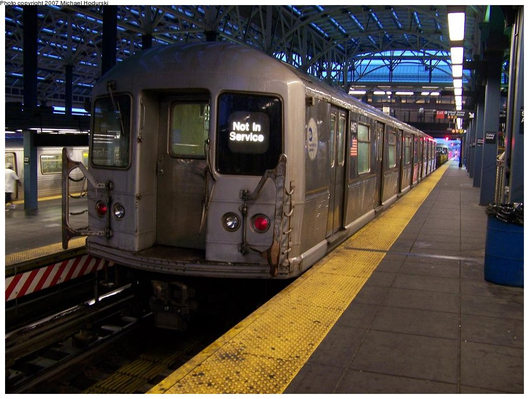 (185k, 1044x788)<br><b>Country:</b> United States<br><b>City:</b> New York<br><b>System:</b> New York City Transit<br><b>Location:</b> Coney Island/Stillwell Avenue<br><b>Route:</b> Work Service<br><b>Car:</b> R-40M (St. Louis, 1969)  4467 <br><b>Photo by:</b> Michael Hodurski<br><b>Date:</b> 8/8/2007<br><b>Viewed (this week/total):</b> 4 / 1836