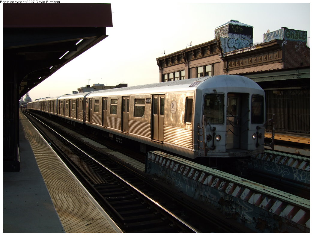 (167k, 1044x788)<br><b>Country:</b> United States<br><b>City:</b> New York<br><b>System:</b> New York City Transit<br><b>Line:</b> BMT Nassau Street/Jamaica Line<br><b>Location:</b> Hewes Street <br><b>Route:</b> Z<br><b>Car:</b> R-42 (St. Louis, 1969-1970)  4631 <br><b>Photo by:</b> David Pirmann<br><b>Date:</b> 8/14/2007<br><b>Viewed (this week/total):</b> 3 / 998