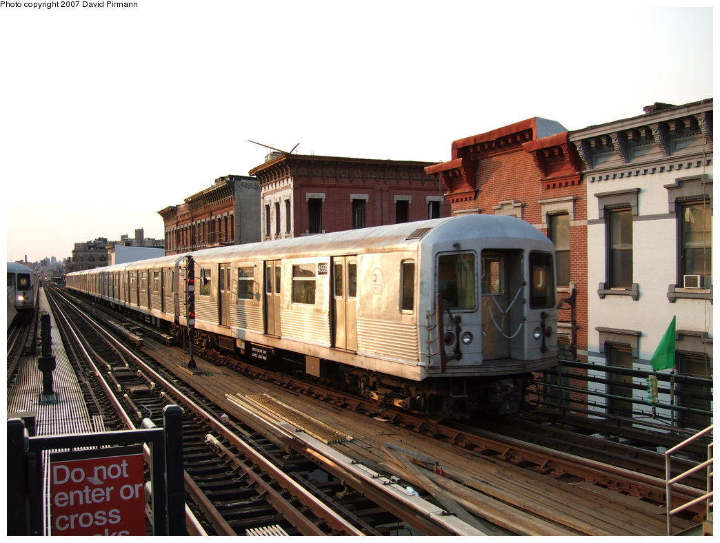 (195k, 1044x788)<br><b>Country:</b> United States<br><b>City:</b> New York<br><b>System:</b> New York City Transit<br><b>Line:</b> BMT Nassau Street/Jamaica Line<br><b>Location:</b> Myrtle Avenue <br><b>Route:</b> J<br><b>Car:</b> R-42 (St. Louis, 1969-1970)  4559 <br><b>Photo by:</b> David Pirmann<br><b>Date:</b> 8/14/2007<br><b>Viewed (this week/total):</b> 1 / 2561