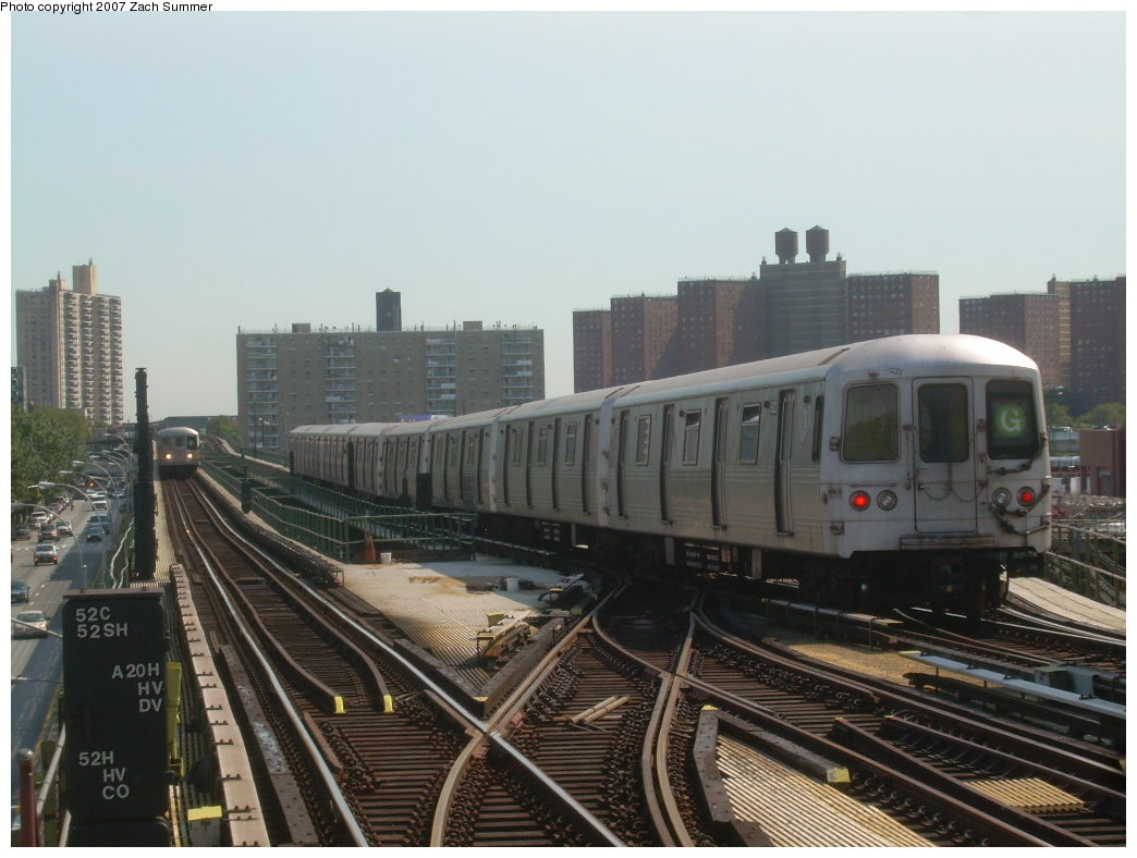 (183k, 1044x788)<br><b>Country:</b> United States<br><b>City:</b> New York<br><b>System:</b> New York City Transit<br><b>Line:</b> BMT Culver Line<br><b>Location:</b> Avenue X <br><b>Route:</b> G<br><b>Car:</b> R-46 (Pullman-Standard, 1974-75)  <br><b>Photo by:</b> Zach Summer<br><b>Date:</b> 8/12/2007<br><b>Viewed (this week/total):</b> 1 / 1718