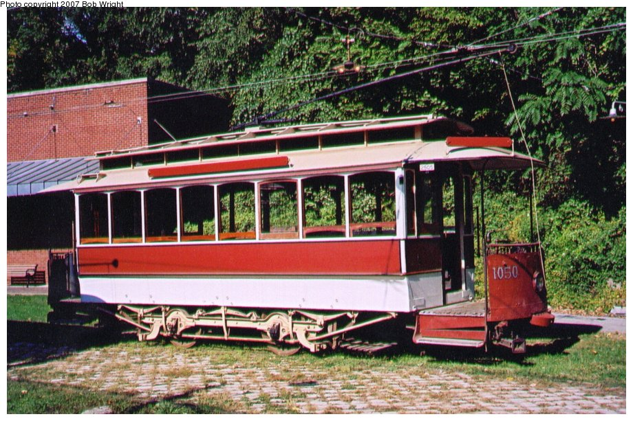 (173k, 920x613)<br><b>Country:</b> United States<br><b>City:</b> Baltimore, MD<br><b>System:</b> Baltimore Streetcar Museum <br><b>Car:</b>  1050 <br><b>Photo by:</b> Bob Wright<br><b>Date:</b> 10/2004<br><b>Viewed (this week/total):</b> 0 / 601