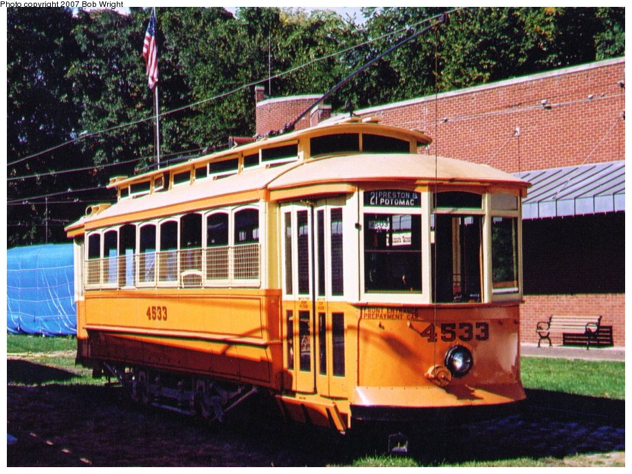 (171k, 920x689)<br><b>Country:</b> United States<br><b>City:</b> Baltimore, MD<br><b>System:</b> Baltimore Streetcar Museum <br><b>Car:</b>  4533 <br><b>Photo by:</b> Bob Wright<br><b>Date:</b> 10/2004<br><b>Viewed (this week/total):</b> 0 / 531