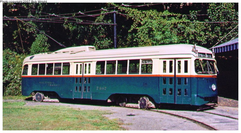 (135k, 920x509)<br><b>Country:</b> United States<br><b>City:</b> Baltimore, MD<br><b>System:</b> Baltimore Streetcar Museum <br><b>Car:</b> PCC 7407 <br><b>Photo by:</b> Bob Wright<br><b>Date:</b> 10/2004<br><b>Viewed (this week/total):</b> 0 / 501
