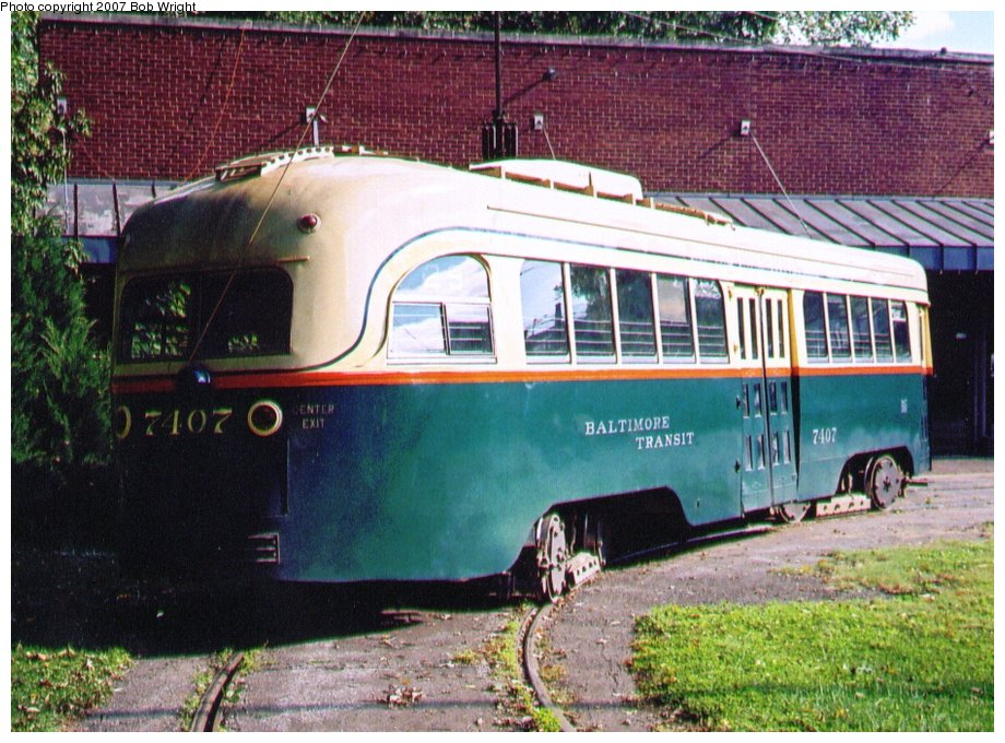 (162k, 920x680)<br><b>Country:</b> United States<br><b>City:</b> Baltimore, MD<br><b>System:</b> Baltimore Streetcar Museum <br><b>Car:</b> PCC 7407 <br><b>Photo by:</b> Bob Wright<br><b>Date:</b> 10/2004<br><b>Viewed (this week/total):</b> 1 / 465