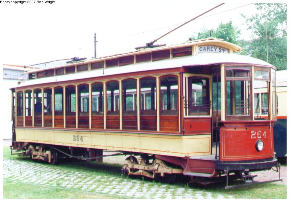 (118k, 940x655)<br><b>Country:</b> United States<br><b>City:</b> Baltimore, MD<br><b>System:</b> Baltimore Streetcar Museum <br><b>Car:</b>  264 <br><b>Photo by:</b> Bob Wright<br><b>Date:</b> 7/1995<br><b>Viewed (this week/total):</b> 3 / 1031