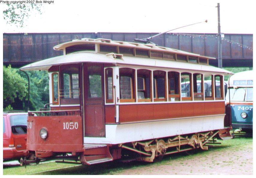 (94k, 854x593)<br><b>Country:</b> United States<br><b>City:</b> Baltimore, MD<br><b>System:</b> Baltimore Streetcar Museum <br><b>Car:</b>  1050 <br><b>Photo by:</b> Bob Wright<br><b>Date:</b> 7/1995<br><b>Viewed (this week/total):</b> 1 / 914