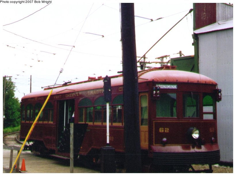 (74k, 820x613)<br><b>Country:</b> United States<br><b>City:</b> Kennebunk, ME<br><b>System:</b> Seashore Trolley Museum <br><b>Car:</b> PSTC Center Entrance Interurban (J.G. Brill, 1926)  62 <br><b>Photo by:</b> Bob Wright<br><b>Date:</b> 7/1997<br><b>Viewed (this week/total):</b> 1 / 606