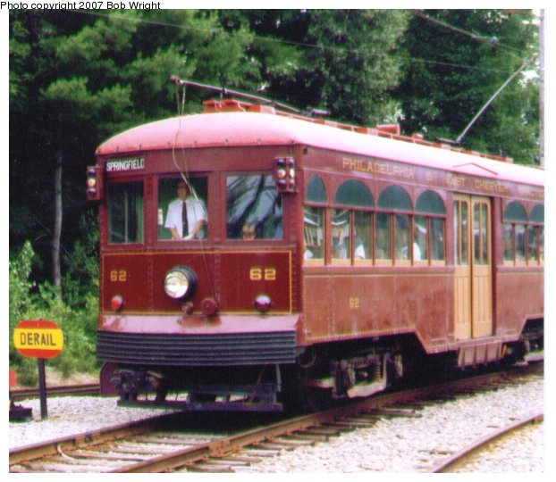 (77k, 622x540)<br><b>Country:</b> United States<br><b>City:</b> Kennebunk, ME<br><b>System:</b> Seashore Trolley Museum <br><b>Car:</b> PSTC Center Entrance Interurban (J.G. Brill, 1926)  62 <br><b>Photo by:</b> Bob Wright<br><b>Date:</b> 7/1997<br><b>Viewed (this week/total):</b> 0 / 627
