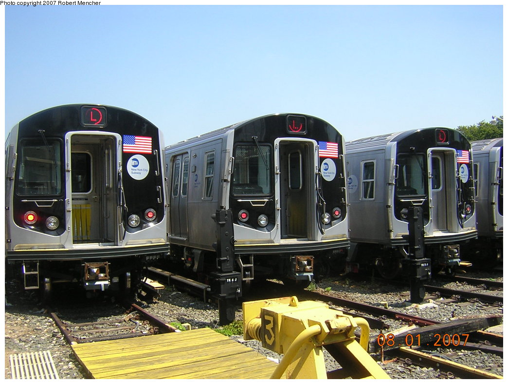 (214k, 1044x788)<br><b>Country:</b> United States<br><b>City:</b> New York<br><b>System:</b> New York City Transit<br><b>Location:</b> Rockaway Parkway (Canarsie) Yard<br><b>Car:</b> R-160A-1 (Alstom, 2005-2008, 4 car sets)  8316/8344 <br><b>Photo by:</b> Robert Mencher<br><b>Date:</b> 8/1/2007<br><b>Viewed (this week/total):</b> 1 / 3780