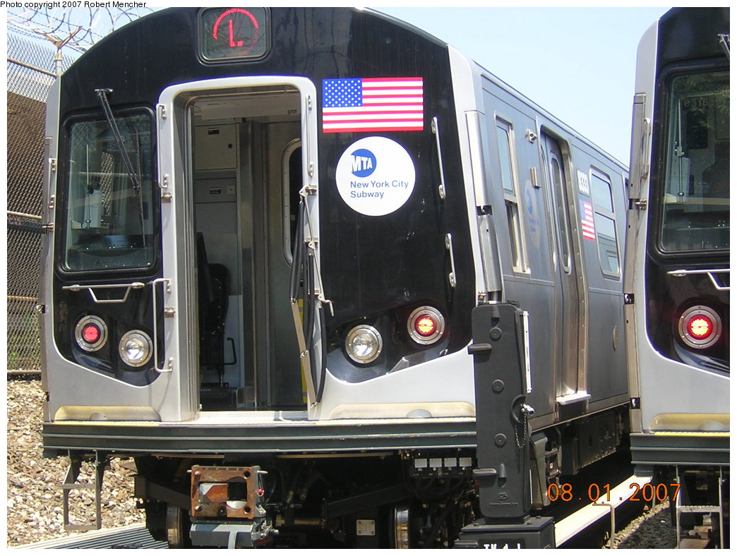(229k, 1044x788)<br><b>Country:</b> United States<br><b>City:</b> New York<br><b>System:</b> New York City Transit<br><b>Location:</b> Rockaway Parkway (Canarsie) Yard<br><b>Car:</b> R-160A-1 (Alstom, 2005-2008, 4 car sets)  8333 <br><b>Photo by:</b> Robert Mencher<br><b>Date:</b> 8/1/2007<br><b>Viewed (this week/total):</b> 4 / 1676