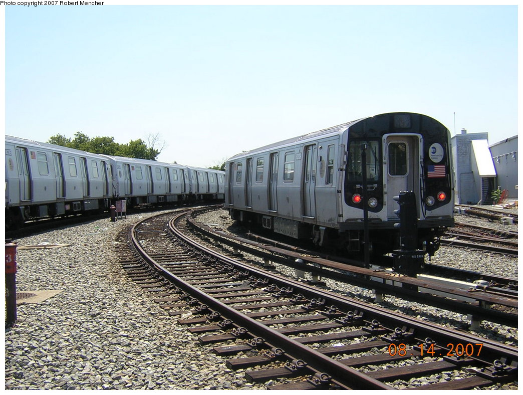 (250k, 1044x788)<br><b>Country:</b> United States<br><b>City:</b> New York<br><b>System:</b> New York City Transit<br><b>Location:</b> Rockaway Parkway (Canarsie) Yard<br><b>Car:</b> R-143 (Kawasaki, 2001-2002) 8209 <br><b>Photo by:</b> Robert Mencher<br><b>Date:</b> 8/14/2007<br><b>Viewed (this week/total):</b> 1 / 1666