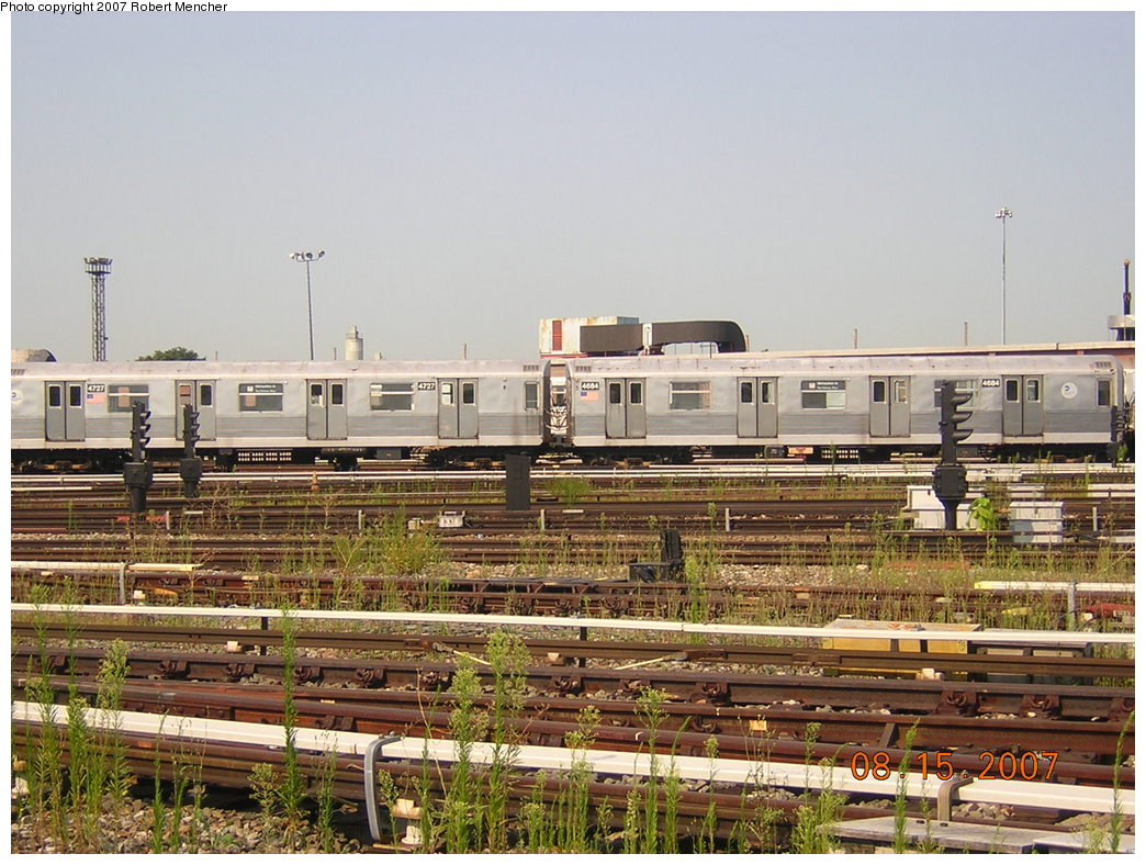 (237k, 1044x788)<br><b>Country:</b> United States<br><b>City:</b> New York<br><b>System:</b> New York City Transit<br><b>Location:</b> Coney Island Yard<br><b>Car:</b> R-42 (St. Louis, 1969-1970)  4684 <br><b>Photo by:</b> Robert Mencher<br><b>Date:</b> 8/15/2007<br><b>Viewed (this week/total):</b> 0 / 1291