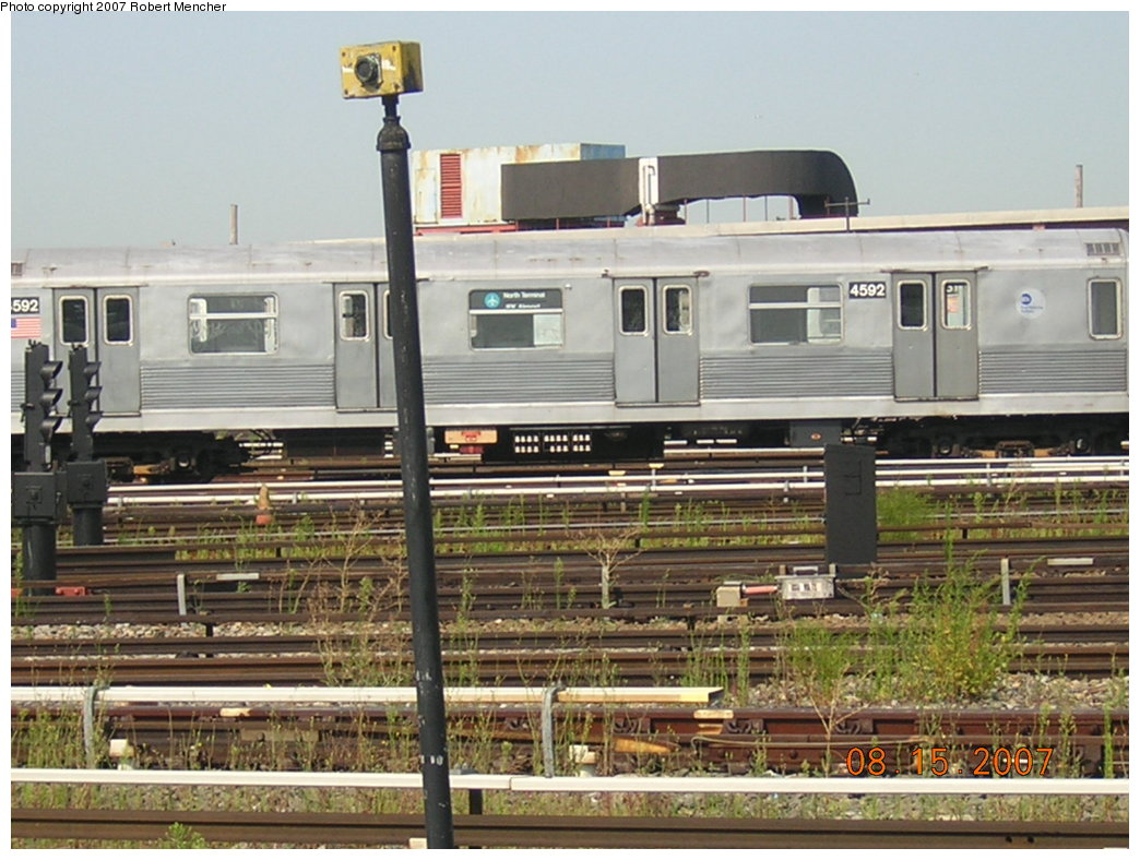 (214k, 1044x788)<br><b>Country:</b> United States<br><b>City:</b> New York<br><b>System:</b> New York City Transit<br><b>Location:</b> Coney Island Yard<br><b>Car:</b> R-42 (St. Louis, 1969-1970)  4592 <br><b>Photo by:</b> Robert Mencher<br><b>Date:</b> 8/15/2007<br><b>Viewed (this week/total):</b> 1 / 1392