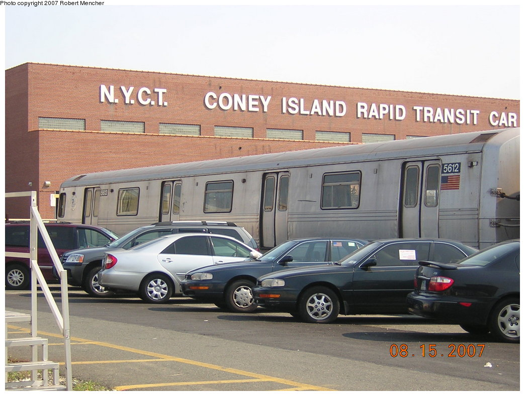 (207k, 1044x788)<br><b>Country:</b> United States<br><b>City:</b> New York<br><b>System:</b> New York City Transit<br><b>Location:</b> Coney Island Yard<br><b>Car:</b> R-46 (Pullman-Standard, 1974-75) 5612 <br><b>Photo by:</b> Robert Mencher<br><b>Date:</b> 8/15/2007<br><b>Viewed (this week/total):</b> 1 / 1513
