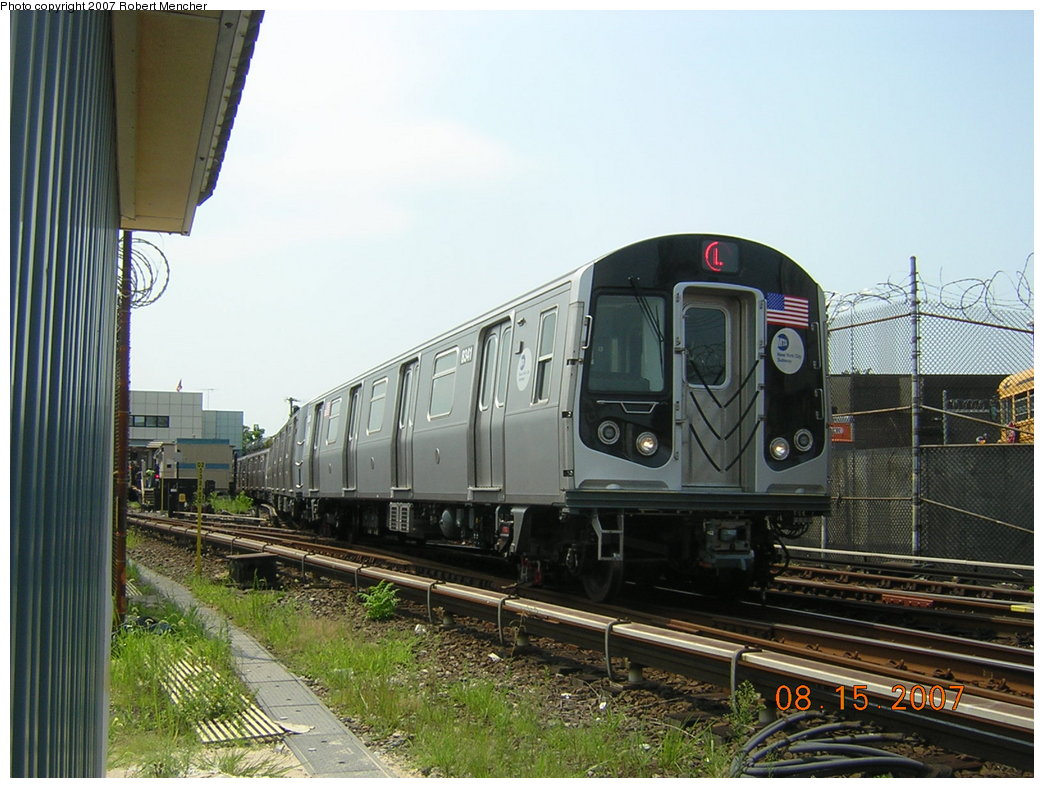 (210k, 1044x788)<br><b>Country:</b> United States<br><b>City:</b> New York<br><b>System:</b> New York City Transit<br><b>Line:</b> BMT Canarsie Line<br><b>Location:</b> Rockaway Parkway <br><b>Route:</b> L<br><b>Car:</b> R-160A-1 (Alstom, 2005-2008, 4 car sets)  8341 <br><b>Photo by:</b> Robert Mencher<br><b>Date:</b> 8/15/2007<br><b>Viewed (this week/total):</b> 1 / 2470