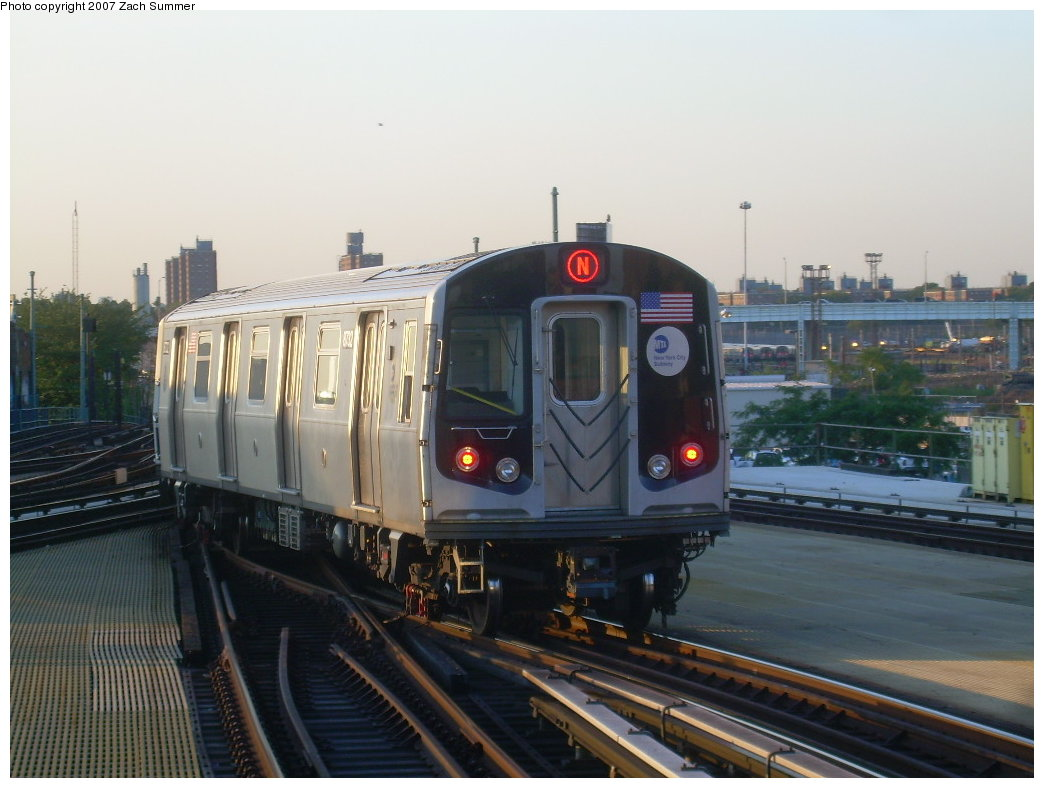 (178k, 1044x788)<br><b>Country:</b> United States<br><b>City:</b> New York<br><b>System:</b> New York City Transit<br><b>Location:</b> Coney Island/Stillwell Avenue<br><b>Route:</b> N<br><b>Car:</b> R-160B (Kawasaki, 2005-2008)  8732 <br><b>Photo by:</b> Zach Summer<br><b>Date:</b> 8/12/2007<br><b>Viewed (this week/total):</b> 1 / 1896