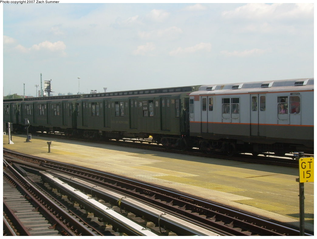 (180k, 1044x788)<br><b>Country:</b> United States<br><b>City:</b> New York<br><b>System:</b> New York City Transit<br><b>Location:</b> Coney Island/Stillwell Avenue<br><b>Route:</b> Fan Trip<br><b>Car:</b> R-1 (American Car & Foundry, 1930-1931) 381 <br><b>Photo by:</b> Zach Summer<br><b>Date:</b> 8/12/2007<br><b>Viewed (this week/total):</b> 0 / 957