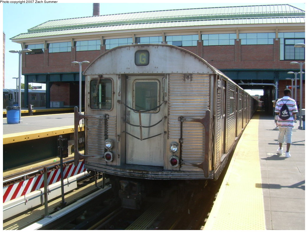 (229k, 1044x788)<br><b>Country:</b> United States<br><b>City:</b> New York<br><b>System:</b> New York City Transit<br><b>Location:</b> Coney Island/Stillwell Avenue<br><b>Route:</b> G<br><b>Car:</b> R-32 (Budd, 1964)  3501 <br><b>Photo by:</b> Zach Summer<br><b>Date:</b> 8/12/2007<br><b>Viewed (this week/total):</b> 2 / 1373