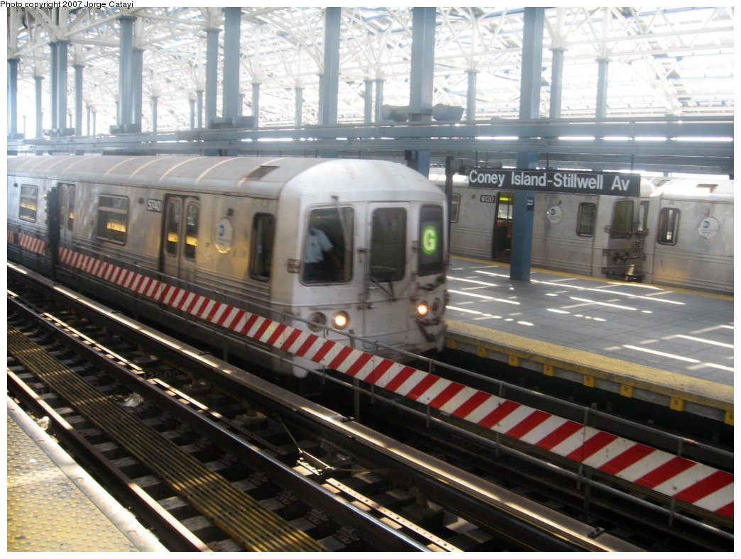(184k, 1044x788)<br><b>Country:</b> United States<br><b>City:</b> New York<br><b>System:</b> New York City Transit<br><b>Location:</b> Coney Island/Stillwell Avenue<br><b>Route:</b> G<br><b>Car:</b> R-46 (Pullman-Standard, 1974-75) 5740 <br><b>Photo by:</b> Jorge Catayi<br><b>Date:</b> 8/12/2007<br><b>Viewed (this week/total):</b> 1 / 1358