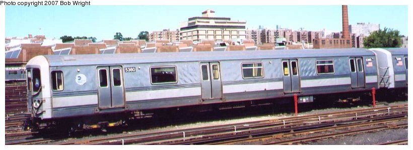 (60k, 820x299)<br><b>Country:</b> United States<br><b>City:</b> New York<br><b>System:</b> New York City Transit<br><b>Location:</b> 207th Street Yard<br><b>Car:</b> R-44 (St. Louis, 1971-73) 5360 <br><b>Photo by:</b> Bob Wright<br><b>Date:</b> 8/24/2003<br><b>Viewed (this week/total):</b> 4 / 2019