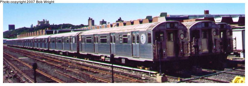 (57k, 820x285)<br><b>Country:</b> United States<br><b>City:</b> New York<br><b>System:</b> New York City Transit<br><b>Location:</b> 207th Street Yard<br><b>Car:</b> R-38 (St. Louis, 1966-1967)   <br><b>Photo by:</b> Bob Wright<br><b>Date:</b> 8/24/2003<br><b>Viewed (this week/total):</b> 0 / 2032