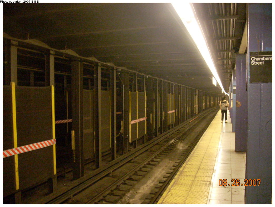 (206k, 1044x788)<br><b>Country:</b> United States<br><b>City:</b> New York<br><b>System:</b> New York City Transit<br><b>Line:</b> IND 8th Avenue Line<br><b>Location:</b> Chambers Street/World Trade Center <br><b>Photo by:</b> Bill E.<br><b>Date:</b> 8/26/2007<br><b>Viewed (this week/total):</b> 0 / 1596