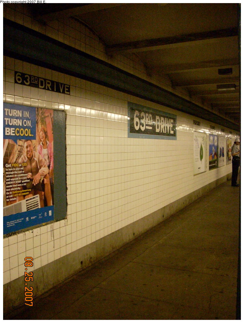 (206k, 788x1044)<br><b>Country:</b> United States<br><b>City:</b> New York<br><b>System:</b> New York City Transit<br><b>Line:</b> IND Queens Boulevard Line<br><b>Location:</b> 63rd Drive/Rego Park <br><b>Photo by:</b> Bill E.<br><b>Date:</b> 8/25/2007<br><b>Viewed (this week/total):</b> 1 / 844