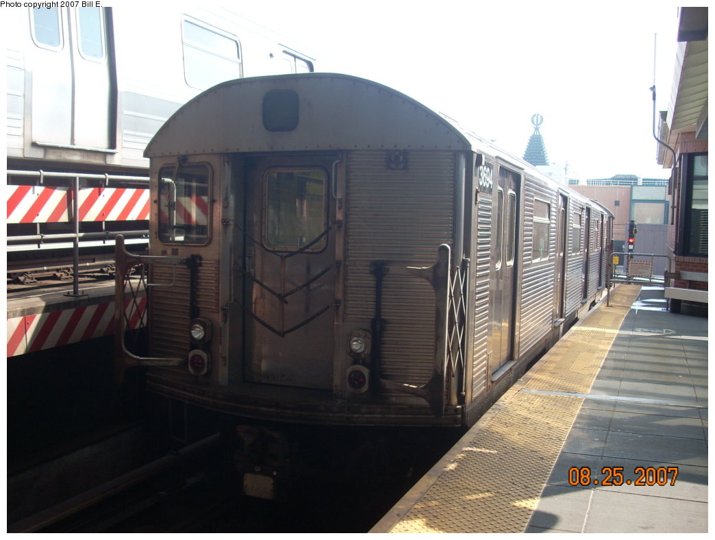 (171k, 1044x788)<br><b>Country:</b> United States<br><b>City:</b> New York<br><b>System:</b> New York City Transit<br><b>Location:</b> Coney Island/Stillwell Avenue<br><b>Route:</b> F<br><b>Car:</b> R-32 (Budd, 1964)  3694 <br><b>Photo by:</b> Bill E.<br><b>Date:</b> 8/25/2007<br><b>Viewed (this week/total):</b> 2 / 1150