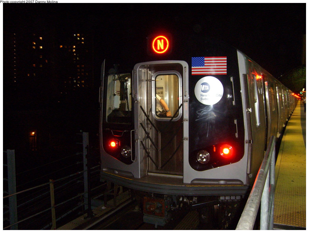 (187k, 1044x788)<br><b>Country:</b> United States<br><b>City:</b> New York<br><b>System:</b> New York City Transit<br><b>Location:</b> Coney Island/Stillwell Avenue<br><b>Route:</b> N<br><b>Car:</b> R-160B (Kawasaki, 2005-2008)  8852 <br><b>Photo by:</b> Danny Molina<br><b>Date:</b> 8/24/2007<br><b>Viewed (this week/total):</b> 1 / 1681