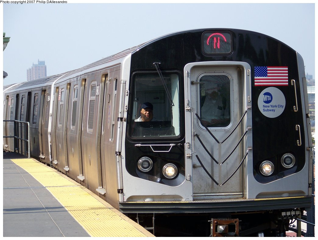 (171k, 1044x788)<br><b>Country:</b> United States<br><b>City:</b> New York<br><b>System:</b> New York City Transit<br><b>Location:</b> Coney Island/Stillwell Avenue<br><b>Route:</b> N<br><b>Car:</b> R-160B (Kawasaki, 2005-2008)  8843 <br><b>Photo by:</b> Philip D'Allesandro<br><b>Date:</b> 8/25/2007<br><b>Viewed (this week/total):</b> 0 / 2228