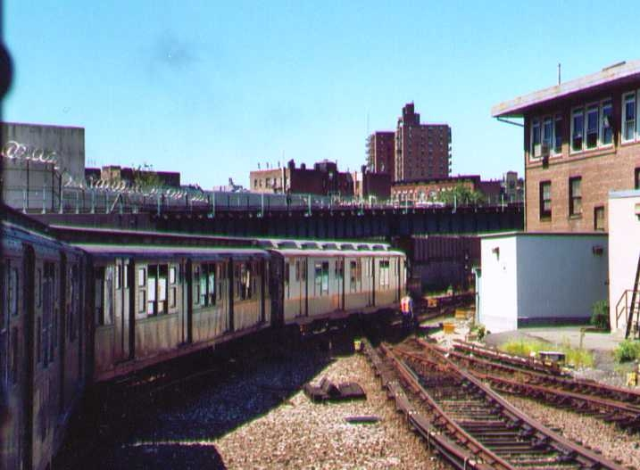 (116k, 717x527)<br><b>Country:</b> United States<br><b>City:</b> New York<br><b>System:</b> New York City Transit<br><b>Location:</b> 207th Street Yard<br><b>Route:</b> Fan Trip<br><b>Car:</b> R-7A (Pullman, 1938)  1575 <br><b>Photo by:</b> Bob Wright<br><b>Date:</b> 8/24/2003<br><b>Viewed (this week/total):</b> 2 / 1570