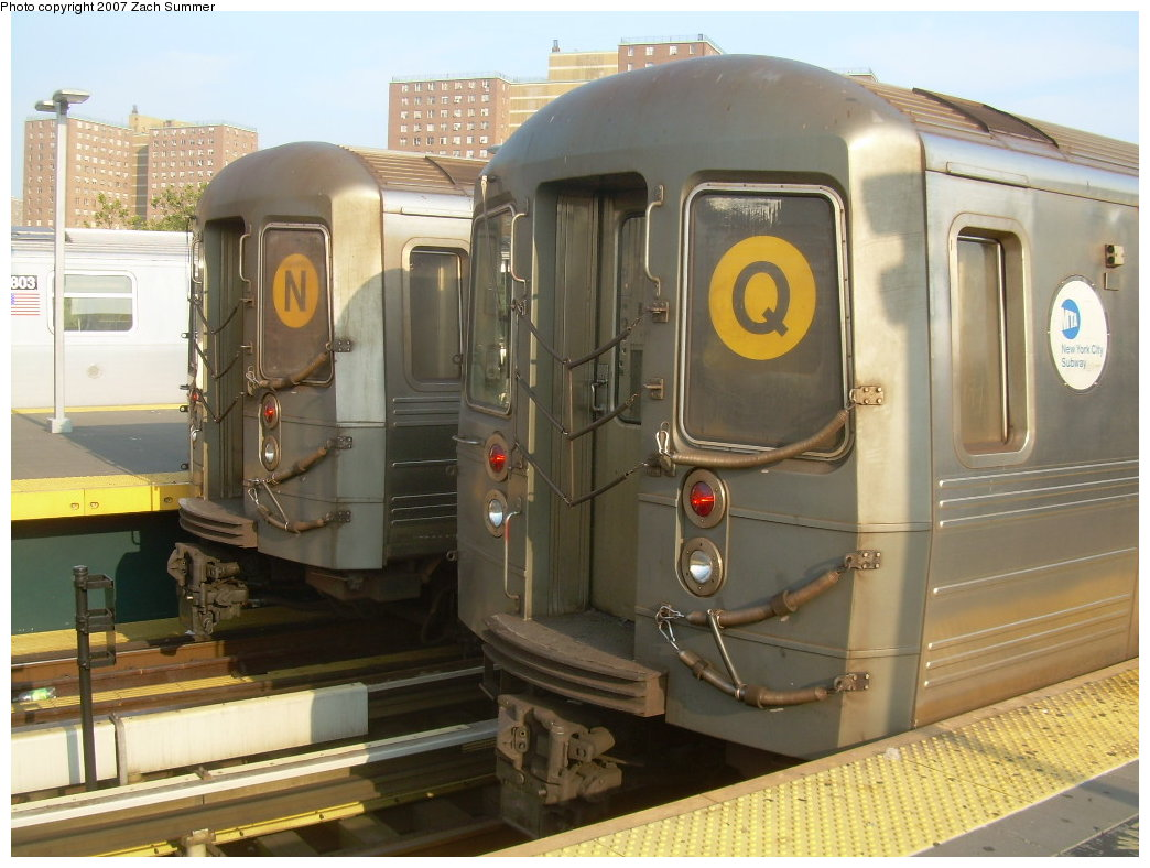 (198k, 1044x788)<br><b>Country:</b> United States<br><b>City:</b> New York<br><b>System:</b> New York City Transit<br><b>Location:</b> Coney Island/Stillwell Avenue<br><b>Route:</b> N/Q<br><b>Car:</b> R-68A (Kawasaki, 1988-1989)  5124/5200 <br><b>Photo by:</b> Zach Summer<br><b>Date:</b> 8/25/2007<br><b>Viewed (this week/total):</b> 3 / 1897