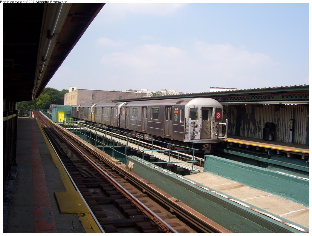 (178k, 1044x791)<br><b>Country:</b> United States<br><b>City:</b> New York<br><b>System:</b> New York City Transit<br><b>Line:</b> IRT Brooklyn Line<br><b>Location:</b> Sutter Avenue/Rutland Road <br><b>Route:</b> 3<br><b>Car:</b> R-62 (Kawasaki, 1983-1985)  1331 <br><b>Photo by:</b> Aliandro Brathwaite<br><b>Date:</b> 8/30/2007<br><b>Viewed (this week/total):</b> 0 / 1721