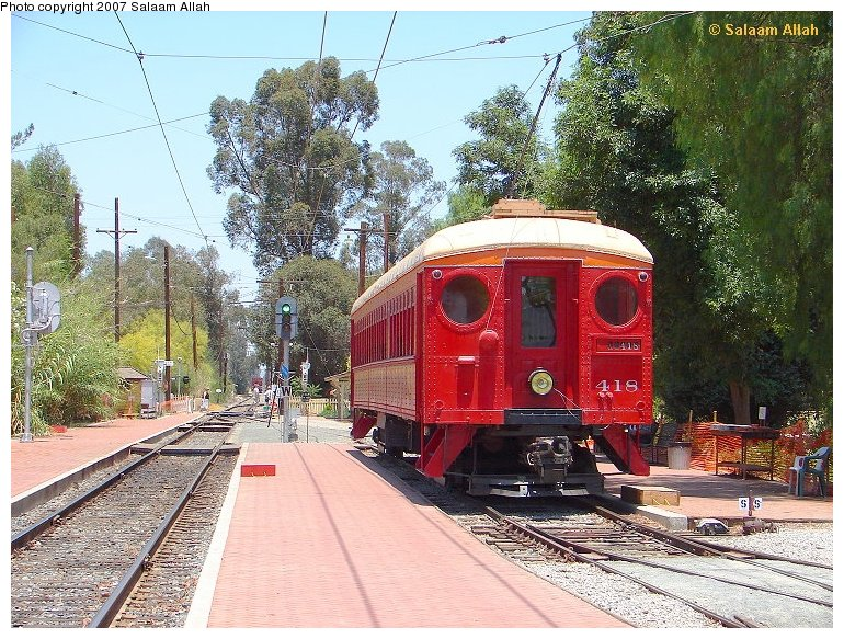 (186k, 770x583)<br><b>Country:</b> United States<br><b>City:</b> Perris, CA<br><b>System:</b> Orange Empire Railway Museum <br><b>Car:</b> Pacific Electric Blimp Interurban (Pullman, 1913)  418 <br><b>Photo by:</b> Salaam Allah<br><b>Date:</b> 4/5/2006<br><b>Viewed (this week/total):</b> 1 / 408