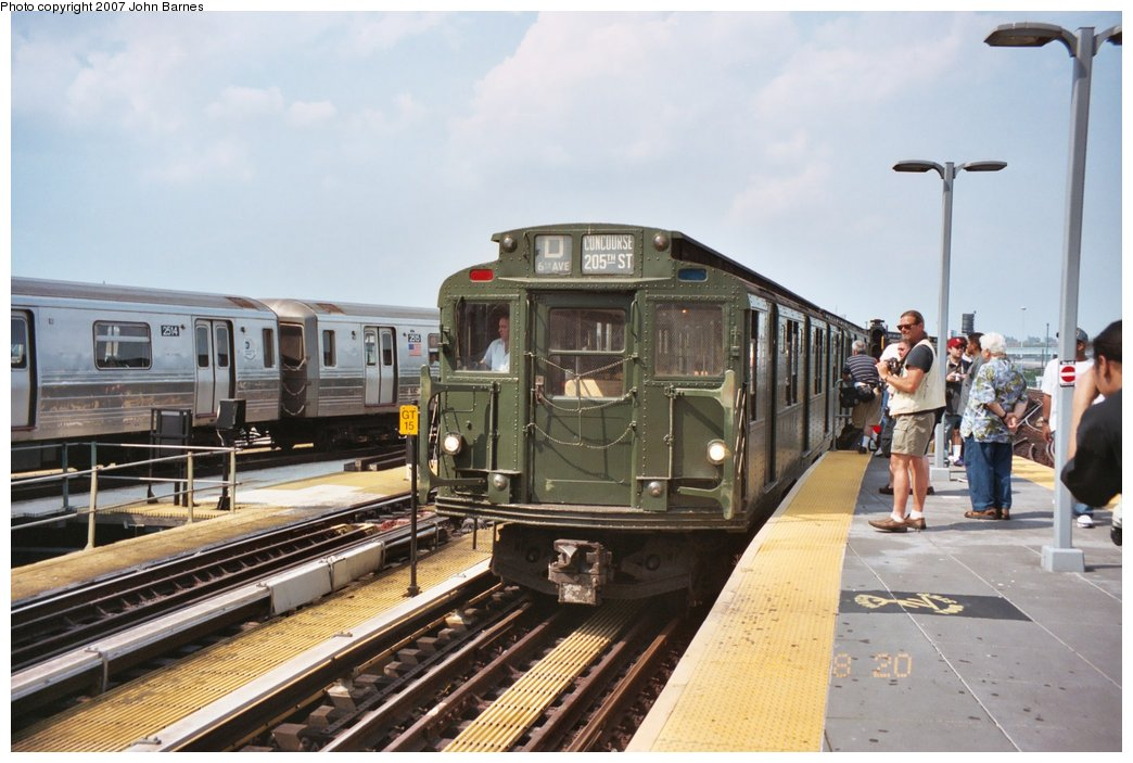 (150k, 1044x703)<br><b>Country:</b> United States<br><b>City:</b> New York<br><b>System:</b> New York City Transit<br><b>Location:</b> Coney Island/Stillwell Avenue<br><b>Route:</b> Fan Trip<br><b>Car:</b> R-9 (Pressed Steel, 1940)  1802 <br><b>Photo by:</b> John Barnes<br><b>Date:</b> 8/20/2006<br><b>Viewed (this week/total):</b> 3 / 1478
