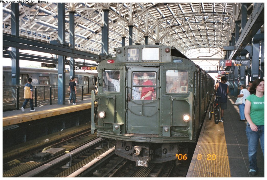 (205k, 1044x703)<br><b>Country:</b> United States<br><b>City:</b> New York<br><b>System:</b> New York City Transit<br><b>Location:</b> Coney Island/Stillwell Avenue<br><b>Route:</b> Fan Trip<br><b>Car:</b> R-9 (Pressed Steel, 1940)  1802 <br><b>Photo by:</b> John Barnes<br><b>Date:</b> 8/20/2006<br><b>Viewed (this week/total):</b> 0 / 1141