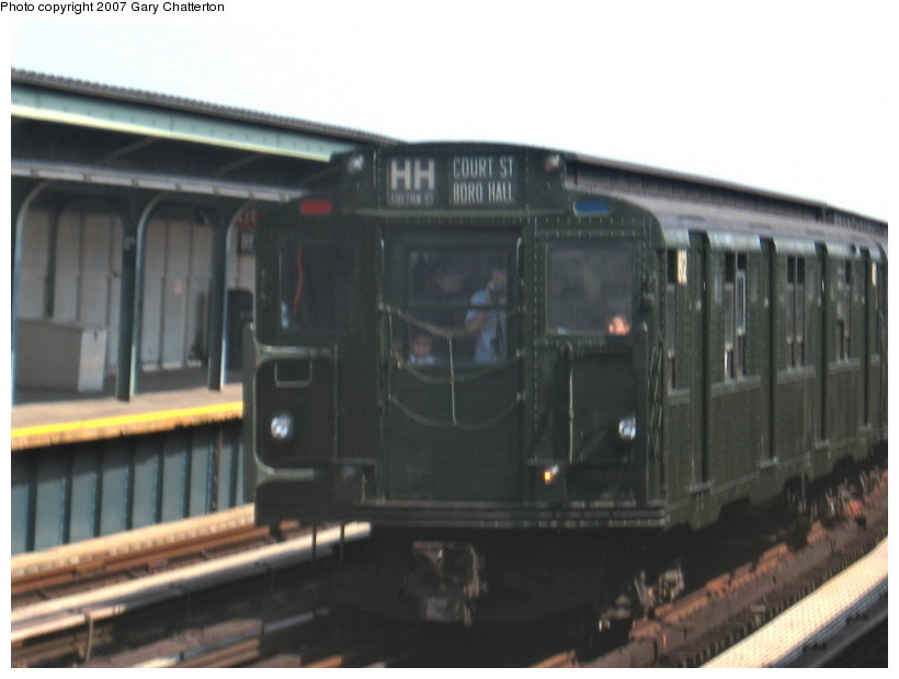 (71k, 820x620)<br><b>Country:</b> United States<br><b>City:</b> New York<br><b>System:</b> New York City Transit<br><b>Line:</b> IND Fulton Street Line<br><b>Location:</b> 104th Street/Oxford Ave. <br><b>Route:</b> Fan Trip<br><b>Car:</b> R-9 (Pressed Steel, 1940)  1802 <br><b>Photo by:</b> Gary Chatterton<br><b>Date:</b> 9/8/2007<br><b>Viewed (this week/total):</b> 1 / 1281