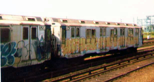 (60k, 615x328)<br><b>Country:</b> United States<br><b>City:</b> New York<br><b>System:</b> New York City Transit<br><b>Location:</b> Rockaway Park Yard<br><b>Car:</b> R-10 (American Car & Foundry, 1948) 3043 <br><b>Photo by:</b> Bob Wright<br><b>Date:</b> 7/15/1978<br><b>Viewed (this week/total):</b> 4 / 2061
