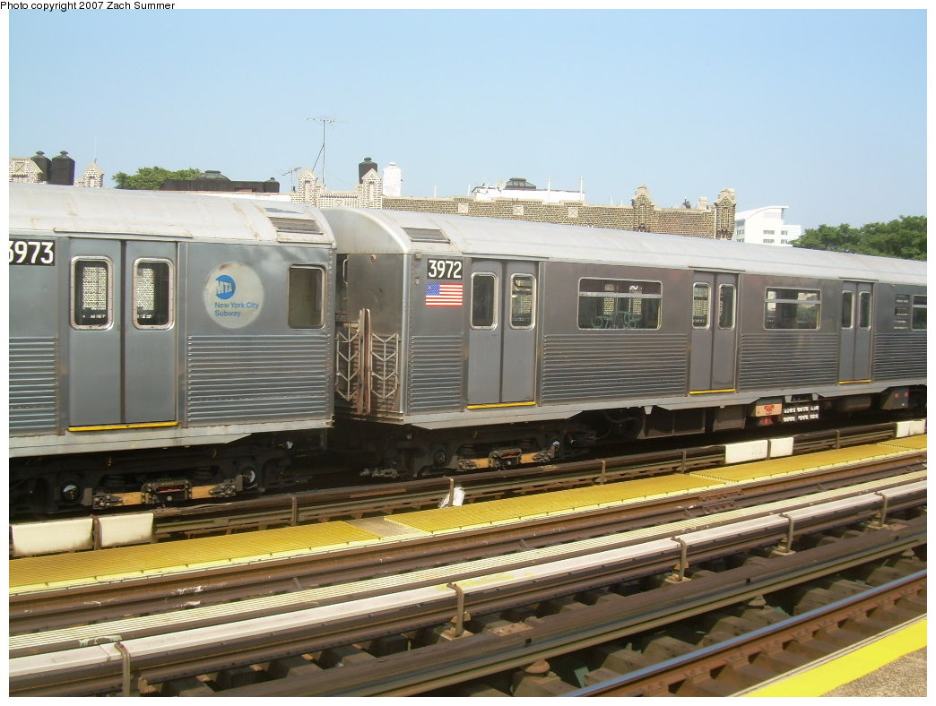 (206k, 1044x788)<br><b>Country:</b> United States<br><b>City:</b> New York<br><b>System:</b> New York City Transit<br><b>Line:</b> BMT West End Line<br><b>Location:</b> 50th Street <br><b>Route:</b> School car<br><b>Car:</b> R-38 (St. Louis, 1966-1967)  3973 <br><b>Photo by:</b> Zach Summer<br><b>Date:</b> 9/7/2007<br><b>Viewed (this week/total):</b> 0 / 1350