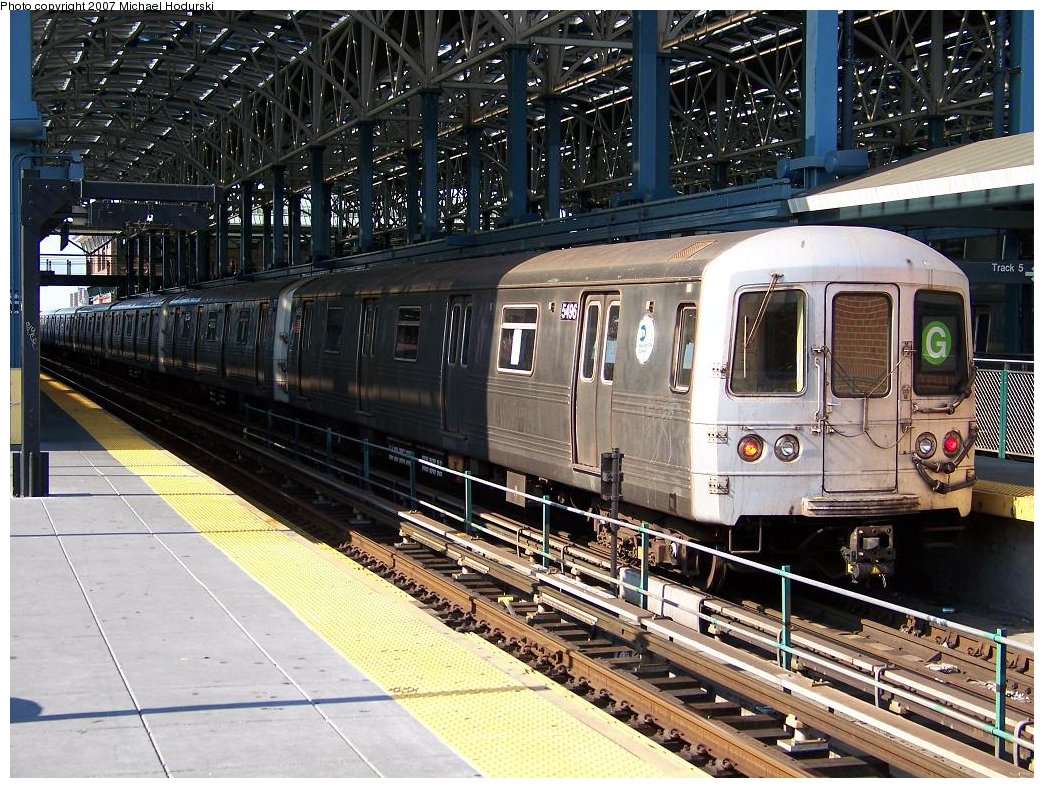 (260k, 1044x788)<br><b>Country:</b> United States<br><b>City:</b> New York<br><b>System:</b> New York City Transit<br><b>Location:</b> Coney Island/Stillwell Avenue<br><b>Route:</b> G<br><b>Car:</b> R-46 (Pullman-Standard, 1974-75) 5496 <br><b>Photo by:</b> Michael Hodurski<br><b>Date:</b> 8/11/2007<br><b>Viewed (this week/total):</b> 3 / 1080